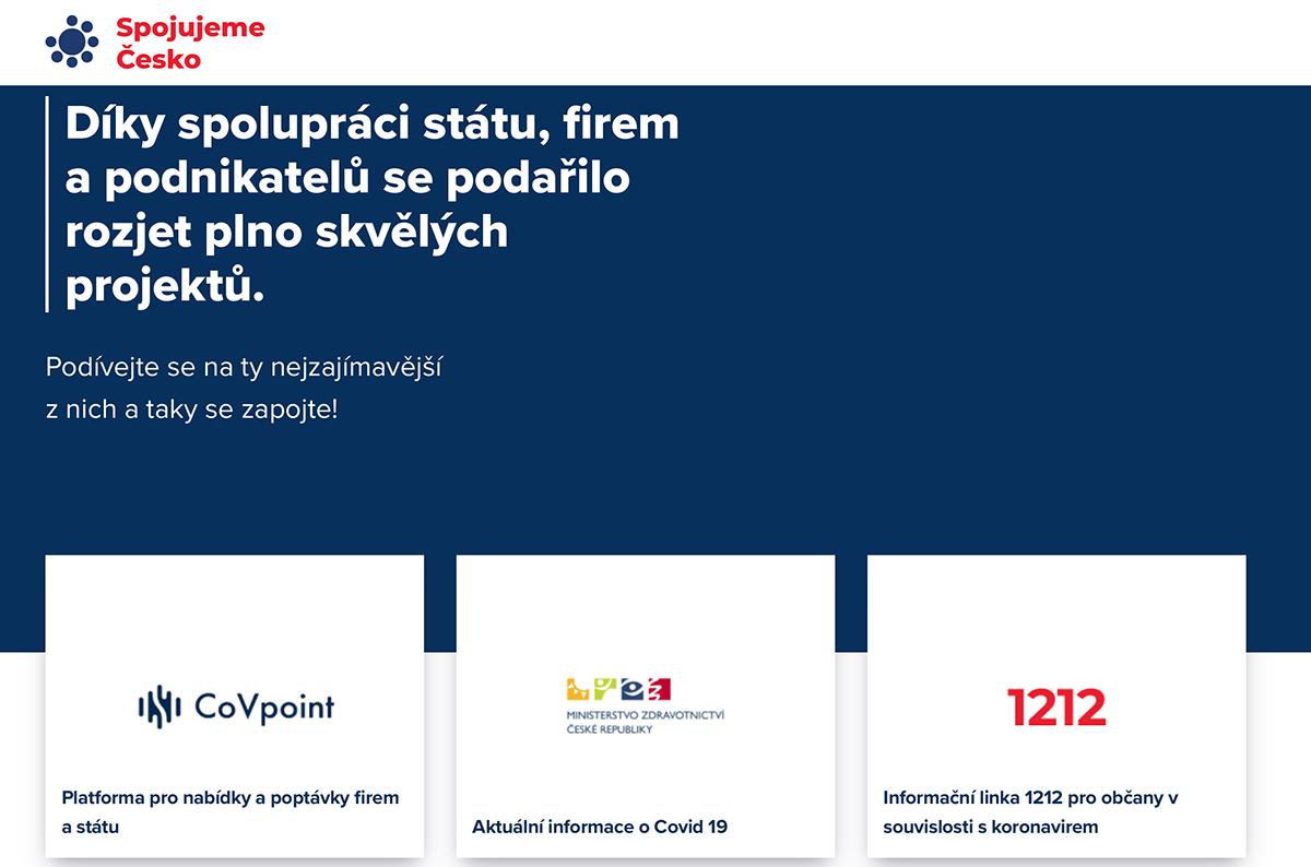 Spojujeme Česko web
